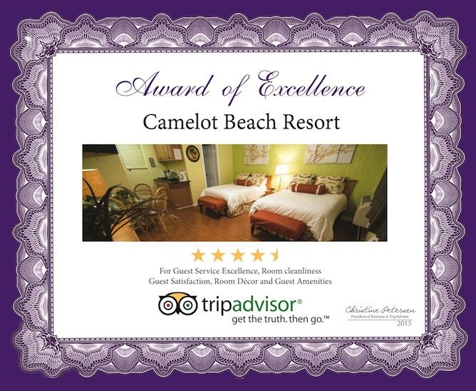 Vincent-Stona-Camelot Beach Resort-TRIP ADVISOR-18x22 Award-2015 UPDATED