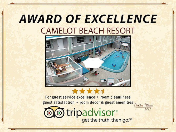 camelot Trip Advisor award