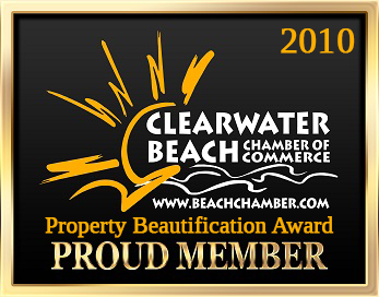 Camelot Beach Suites Awards Clearwater COC Award 2010