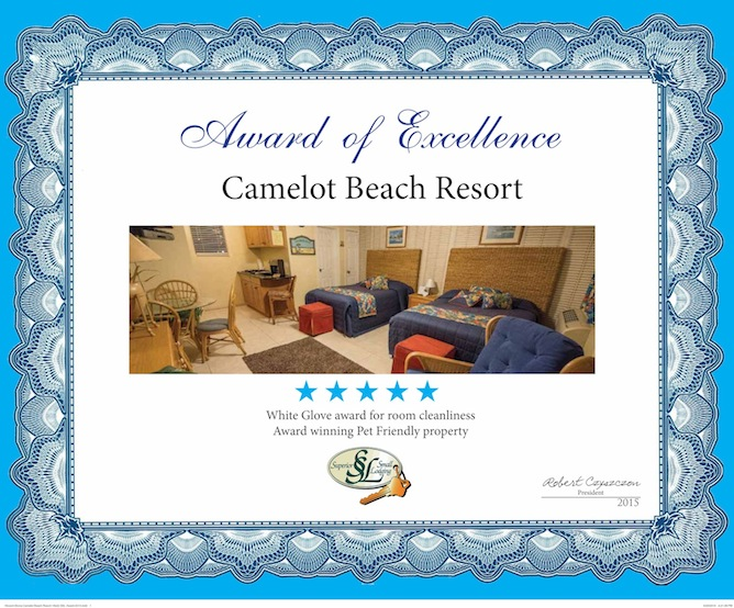 Camelot Beach Suites Awards Excellence Award 2015