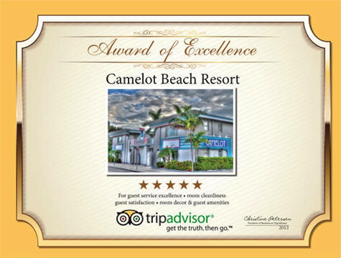 Camelot Beach Suites Awards Excellence Award 2013 1