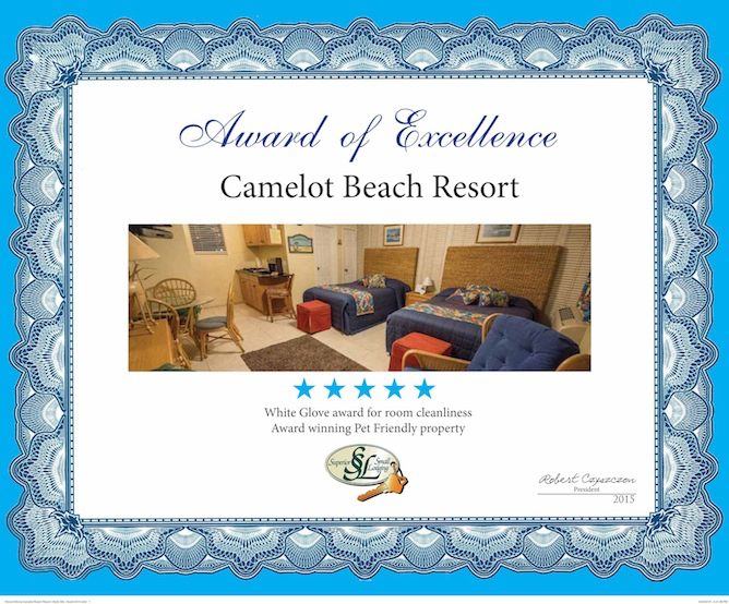 Camelot Beach Suites Awards Excellence Award 2015 3