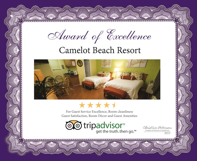 Camelot Beach Suites Awards Excellence Award 2015 5
