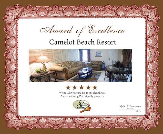 Camelot Beach Suites Awards Excellence Award 2016 4