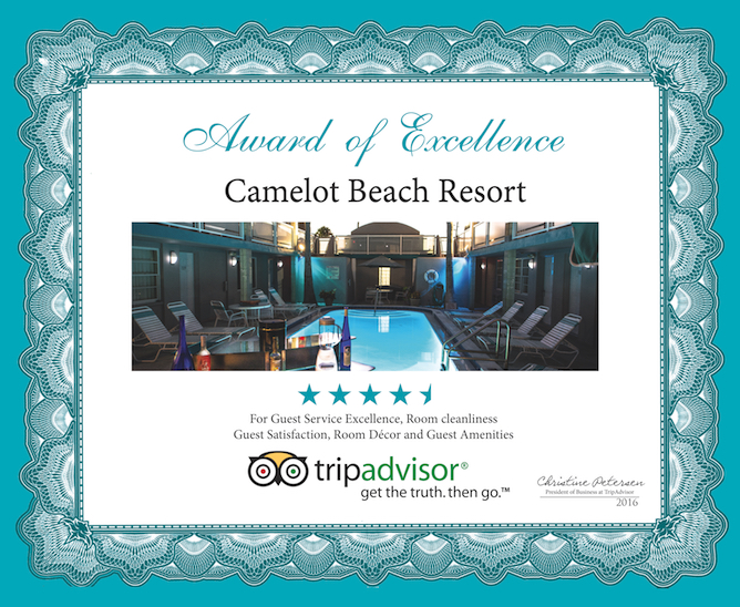 Camelot Beach Suites Awards Excellence Award 2016