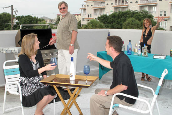 Camelot Beach Suites Family on Rooftop Deck