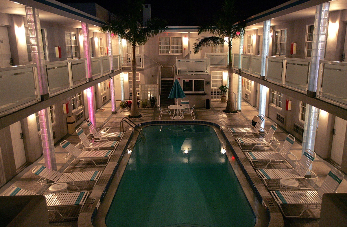 Camelot Beach Suites Property Camelot At Night